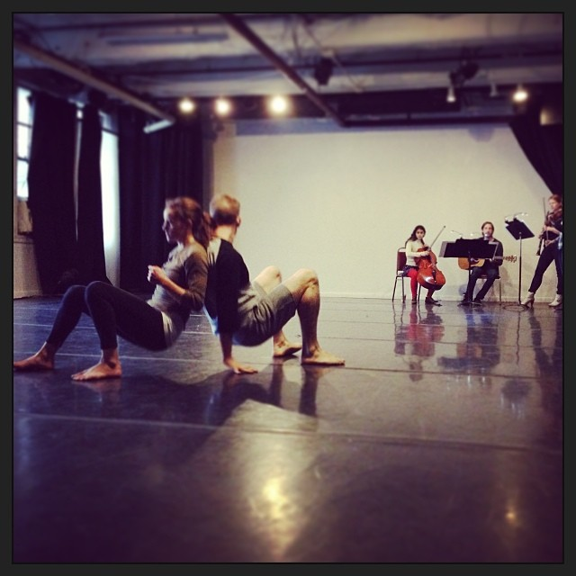 Jessica Gaynor Dance in rehearsal