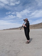 Katie Porter plays Michael Pisaro at the Spiral Jetty, September 2018